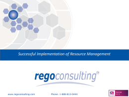 Successful Implementation of Resource Management