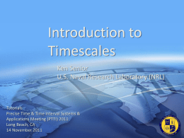 Introduction to timescales (2011)