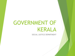 government of kerala - Ministry of Women and Child Development