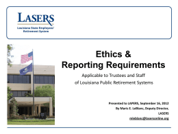 RS 42:1115.1 - LAPERS Louisiana Association of Public Employees