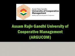 (ARGUCOM) ARGUCOM - assam rajiv gandhi university of