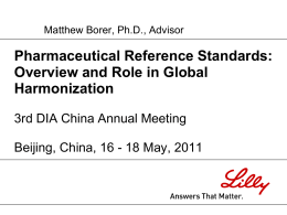 Reference Standard Uses - Drug Information Association