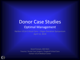 Donor Case Studies