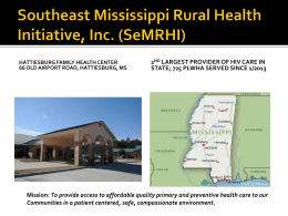 Southeast Mississippi Rural Health Initiative, Inc. (SeMRHI)