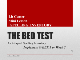 THE BED TEST