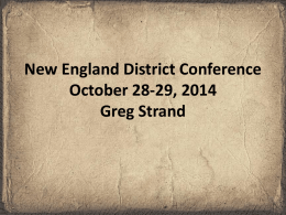 Historicity of Adam and Eve - New England District Association