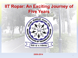 IIT Ropar: An Exciting Journey of Five Years