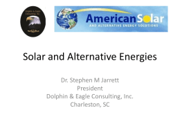 Alternative Energy Brief - Dolphin & Eagle Consulting,Inc.