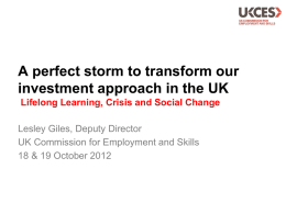 UK Commission*s Employer Skills Survey 2011