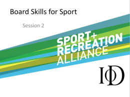Implications - Sport and Recreation Alliance