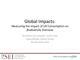 Measuring the Impact of UK Consumption on Biodiversity