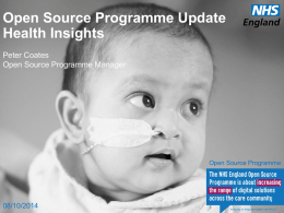 Peter Coates Open Source Programme Updated