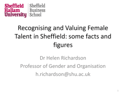 Facts and Figures - Dr Helen Richardson