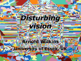 Visual Stress Arnold Wilkins University of Essex, UK