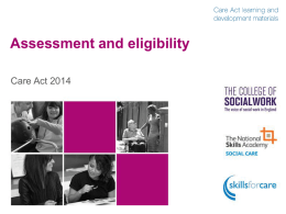 Assessment and eligibility overview slide pack
