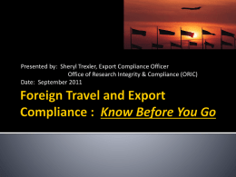 Foreign Travel PowerPoint Presentation