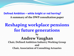 Defined Ambition * white knight or red herring?