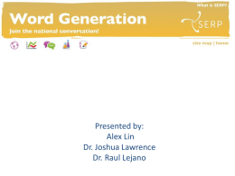 Word Generation and Engaging Students for Scientific