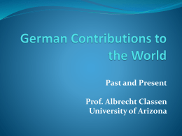 German Contributions to the World