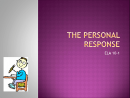How to write a personal response