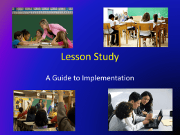 Lesson Study - Polk County School District