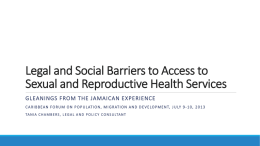 Socio-Legal Barriers to SRH Services