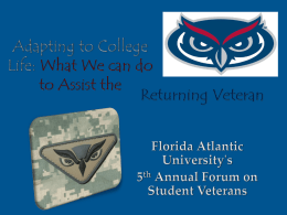Adapting to College Life - Florida Atlantic University
