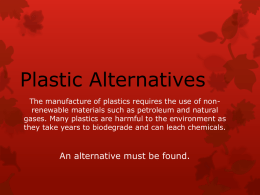 Plastic and Recycling - NTU