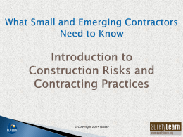 Introduction to Construction Contracts and