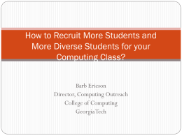 How to Recruit More Students and More Diverse