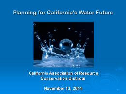 Paul Massera, DWR - California Association of Resource