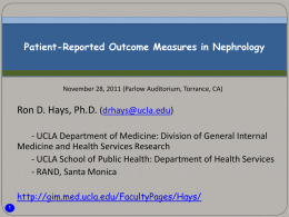 Patient-Reported Outcome Measures in Nephrology.