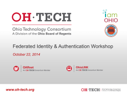 Federated Identity & Authentication Workshop Presentation