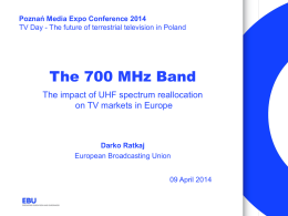 The impact of the UHF spectrum reallocation on TV markets in Europe