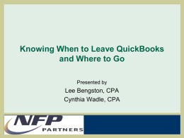Knowing When to Leave QuickBooks and Where to Go