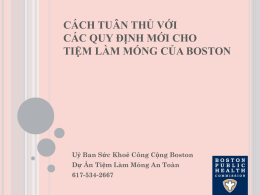 Khử trùng - Boston Public Health Commission