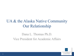 ANCSA PowerPoint - University of Alaska System