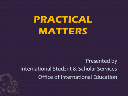 PRACTICAL MATTERS - University at Albany