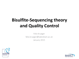 BS-Seq data processing lecture