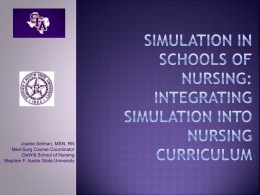 Integrating Simulation Into Nursing curriculum