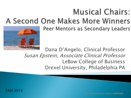 A Second One Makes More Winners [PowerPoint]