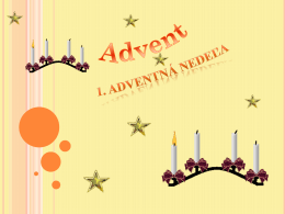 Advent a Vianoce