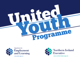 United Youth Programme - Department for Employment and Learning
