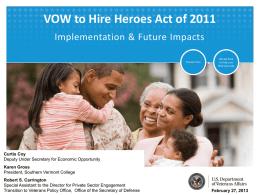 (VOW) to Hire Heroes Act of 2011