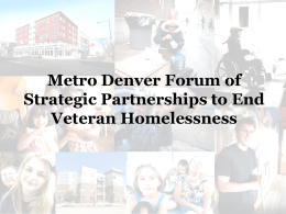 PPT - Metro Denver Homeless Initiative