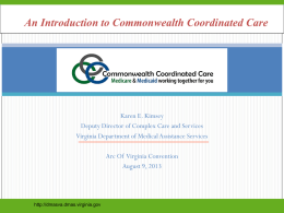 Overview of the Virginia Medicaid Program