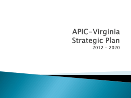 APIC-VA: Strategic Plan