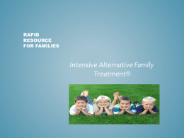 Basic IAFT PowerPoint - Rapid Resources For Families