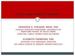 Trauma Presentation - Maryland Department of Human Resources
