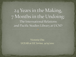 Closure of the IR/PS Library at UCSD: Logistics, Impact, and